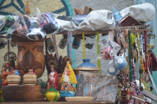 Street-side vendor stall